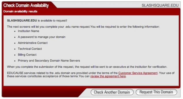 check domain availability edu