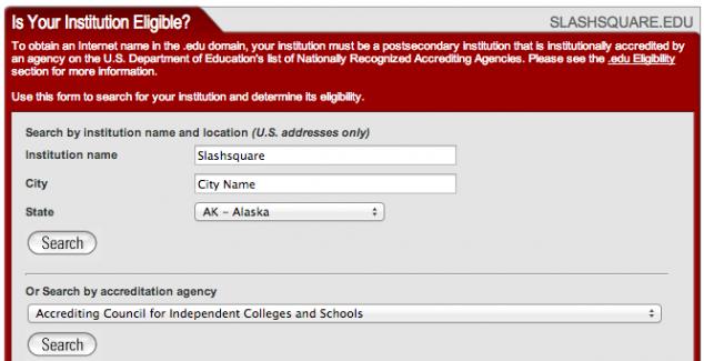 institution eligible