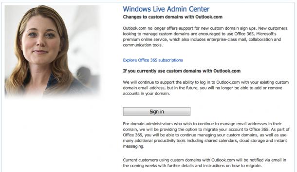 Microsoft Outlook Custom Domains Stopped