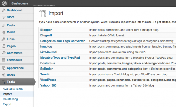 WordPress.com Posterous Import