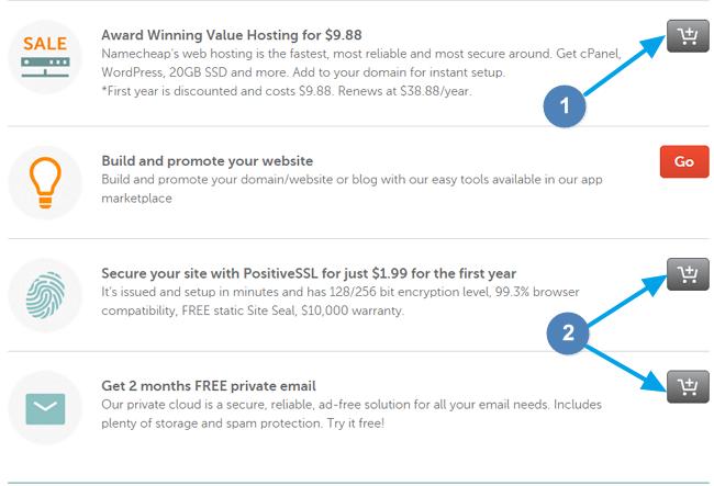 Namecheap hosting