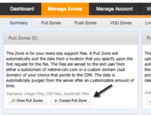 create pull zone maxcdn