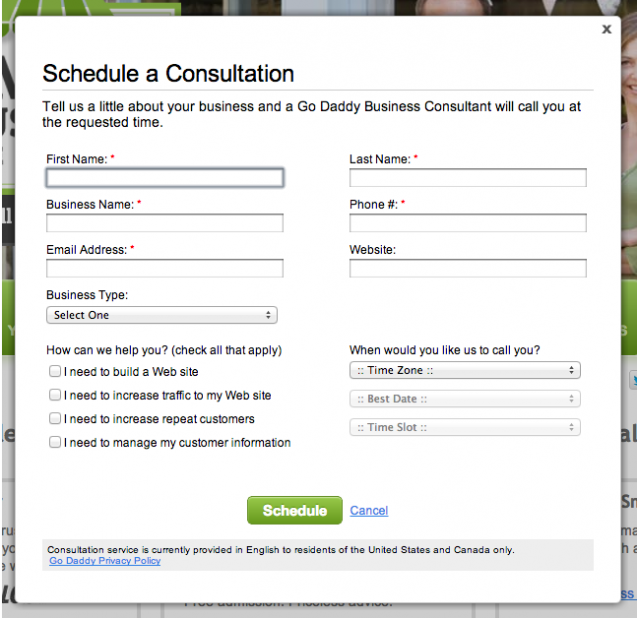 Free Consultation With GoDaddy