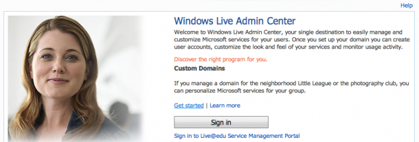 Microsoft OutLook Live Domains