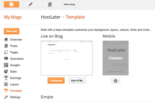Blogger Blogspot Redirect Edit HTML