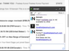 Domain Name Availability Through Gtalk