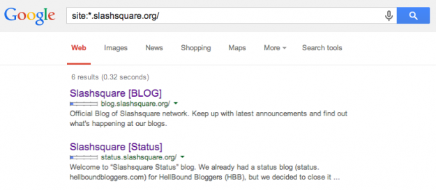 Google Slashsquare Subdomains
