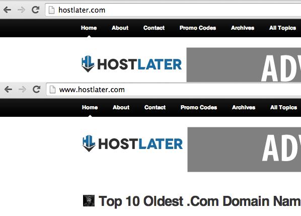 Redirect WWW To Non-WWW URLs