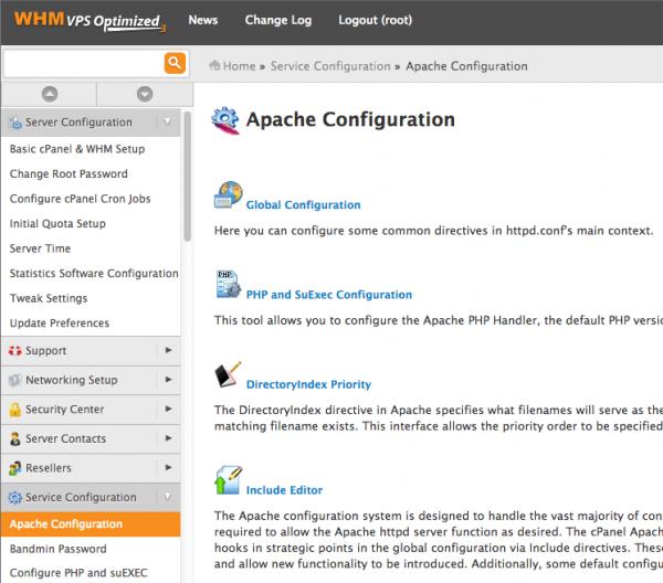 WHM Apache Configuration