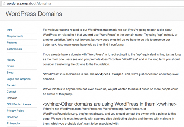 WordPress Domains