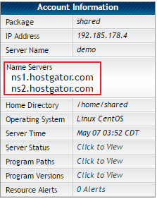 HostGator Nameservers
