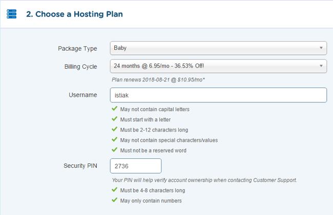 HostGator Hosting Package