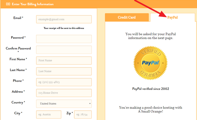 ASmallOrange Paypal Billing