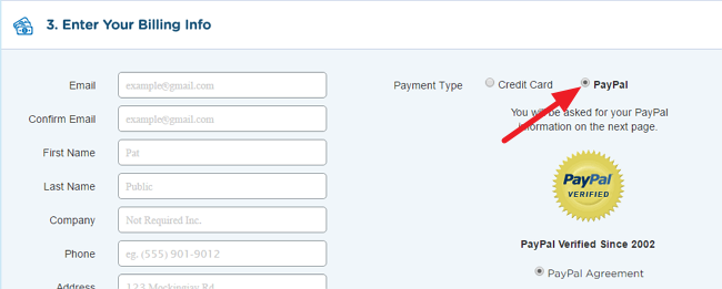 HostGator Paypal Payment