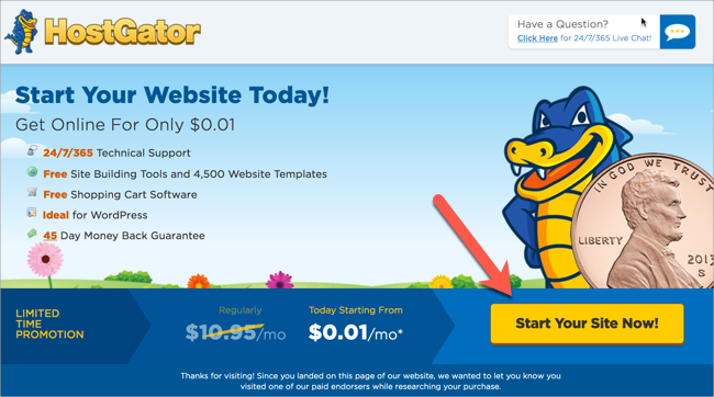 HostGator 1 Cent Coupon Code 2018 – Web Hosting For 1 Penny! 1